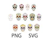 Sugar Skull SVG PNG - Digital Download Only