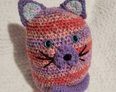Mr. Purrsalot cat plushie, crochet amigurumi, cat stuffed animal.