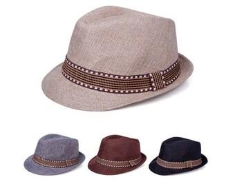 750ccb29de8b9 Fedora hat   Etsy