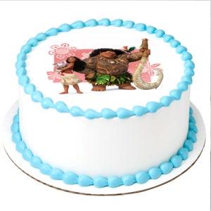 Disney Princess Moana Island Adventurer edible photo cake top for round,sheet cake,cupcake cookies