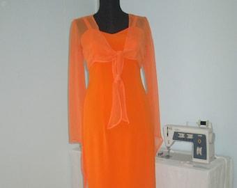 d518caf28c8309 Abendkleid Einzellstück Orange