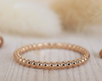 Kugeling 585 rose gold, gold ring, promisering, engagement ring, stacking ring, rose gold, insertion ring