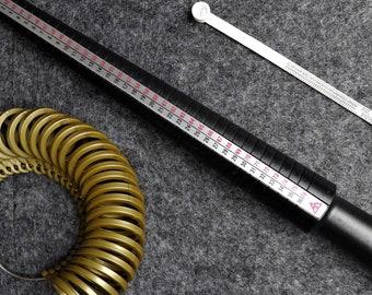 Ring gauge, ring gauge set, ring size meter, multisizer, ring measuring tape, determine ring sizes, measure ring size, measure wedding rings, measure wedding rings
