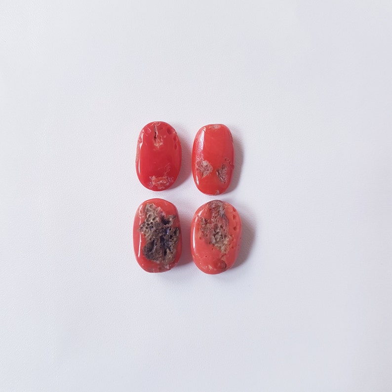Italian Coral Cabochon 100/% Natural Italian Coral Oval Shape Handmade for Jewelry Making 14X9.5X5MM to 13X8X4MM approx. SALE!!