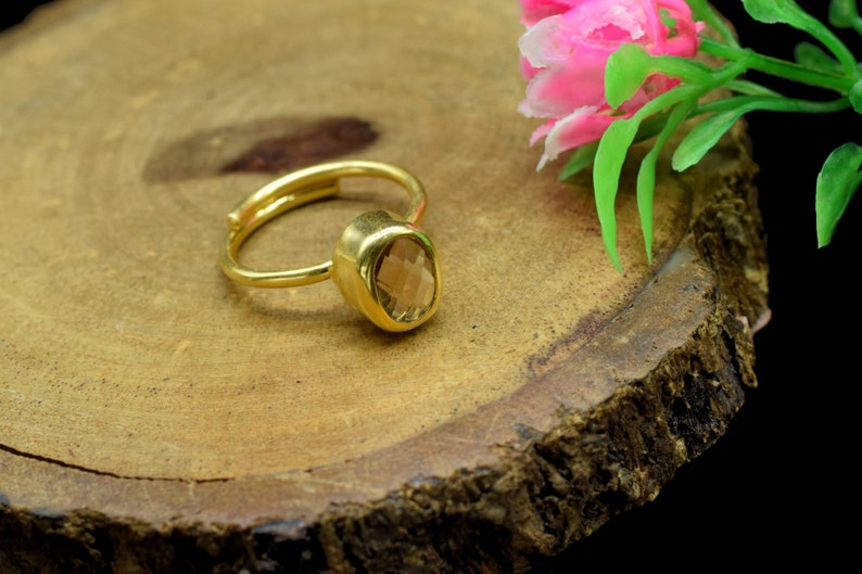 Citrine Ring,Yellow Gemstone Ring,November Birthstone Ring,Stacking Ring,Bridesmaid Ring,Gold Plated Ring,Delicate ring,Wedding Ring,b/'Gift