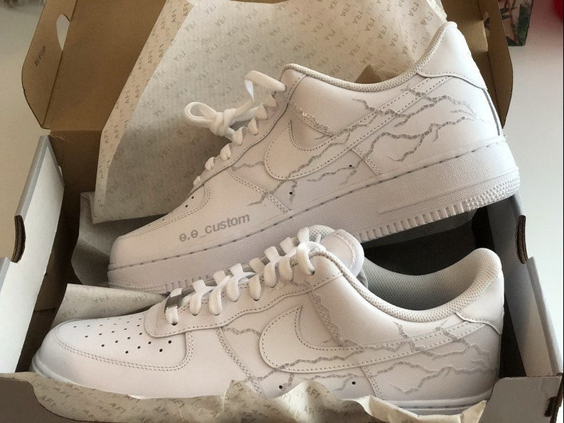 Air Force 1 fulmine riflettente, AF1, Nike custom shoe sneaker