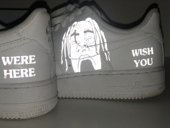 Air Force 1 Reflective Flame Custom | Etsy | Aesthetic shoes