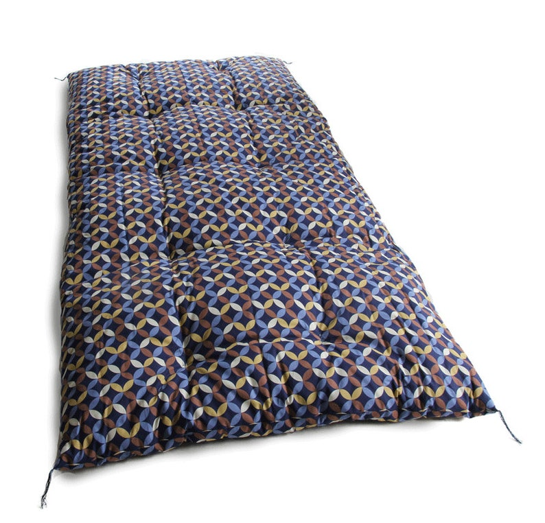 Shichihou Natural Cotton Filling Hand Made by Futon Craftsman Japanese Futon Mattress Topper Futon Topper Thinner shikifuton