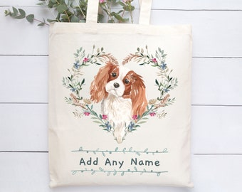 Chihuahua Cushion King Puppy Dog Grocery Travel Reusable Tote Bag