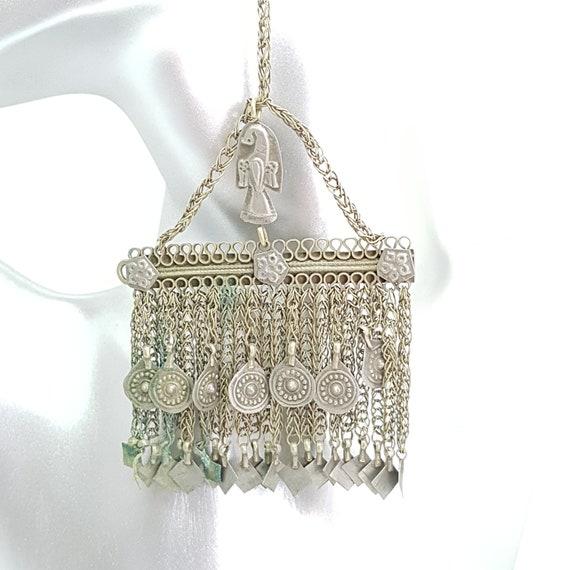Head dress hair ornament earring pendant Afghanist