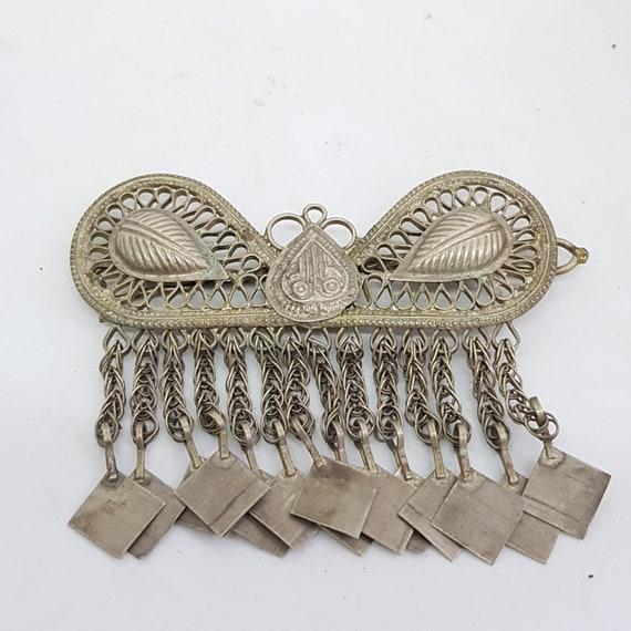 Head dress hair ornament earring pendants Uzbek Af