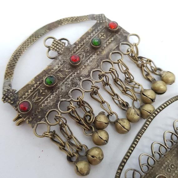 Head dress hair ornament earring pendants TWO Haza