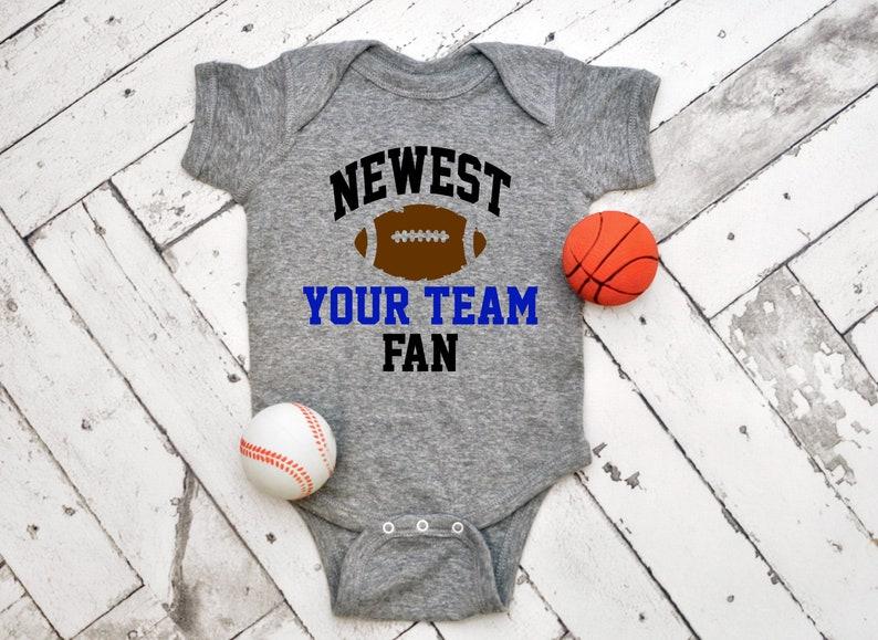 Baby Bodysuit Customized Football themed Baby Onesie Baby Romper NEWEST FAN