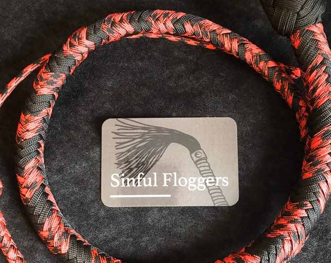 4ft Snake Whip vegan friendly, BDSM impact play, fetish, spanking adult toy, gift for master, mistress