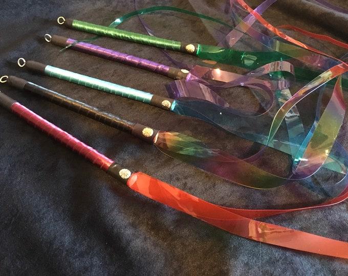 """33"""" PVC Dragontail Quirt Singles & Doubles, Various Colours,"""