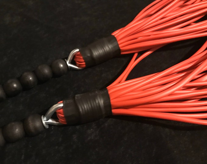 Red PVC Tubular flogger, Vegan Friendly
