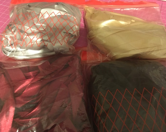 Bags of Ribbon Various Colours