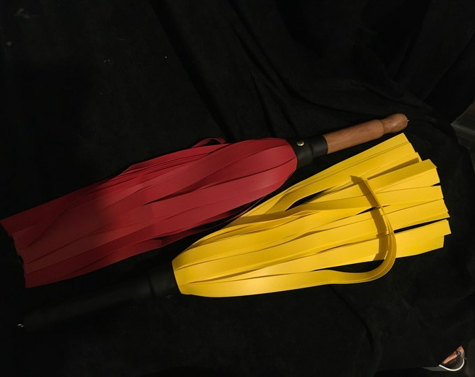 "Lined PVC Flogger 18"" Falls, Various Colours  Vegan Friendly"