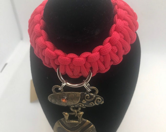 Exclusive One Off Paracord King Cobra  Collar With Pendant