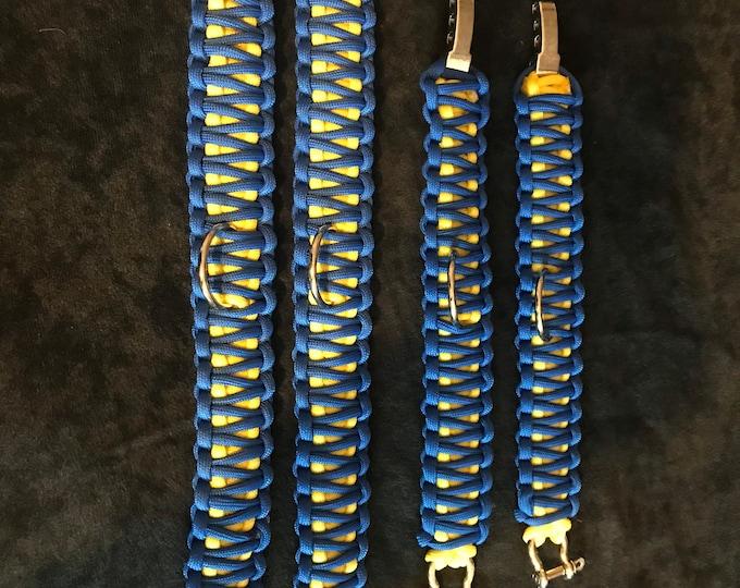 Custom Made Set Paracord Cobra Cuffs.