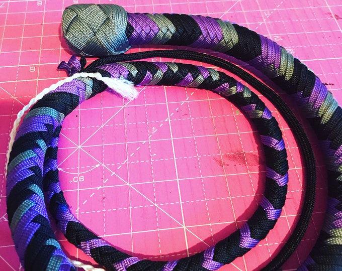 Black, Grey and Purple  3ft Snake Whip