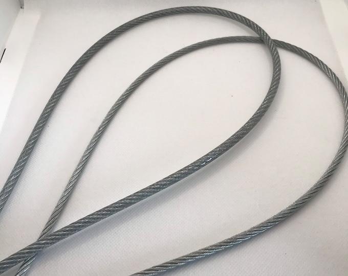 Twisted fFlexible Steel Cable Coated Loop, Vegan Friendly