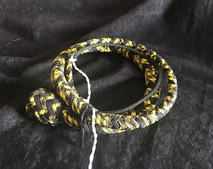 Yellow & Black 3ft Snake Whip, Vegan Friendly