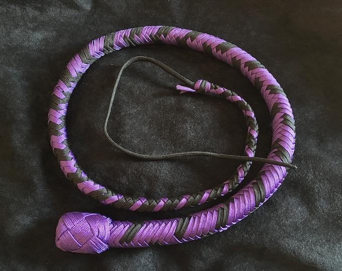 Purple & Black 3ft Snake Whip, Vegan Freindly