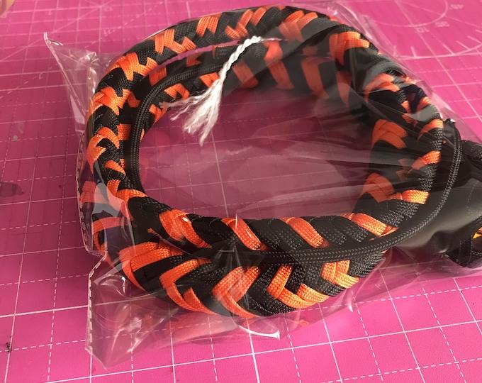 Orange & Black 3ft Snake Whip, Vegan Friendly