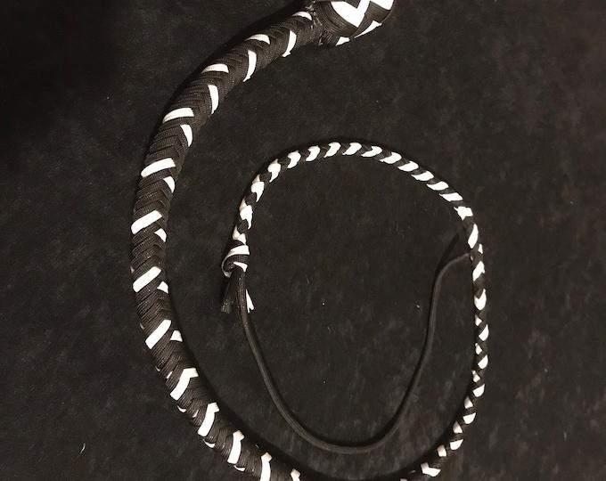 Black and White 3ft Snake Whip