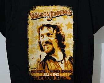 Vtg WAYLON JENNINGS music country Rockabilly tee REPRINT T-SHIRT SZ S-5XL #@#@