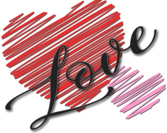 Heart Love PNG JPEG Instant Download Design Sublimation