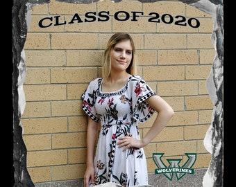 Senior Graduation Prom Homecoming Gift Custom Photo Stone, Personalized Photo Slate, Photographer Gift,