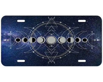 Moon Phases Magic Wiccan Yoga Custom License Plate