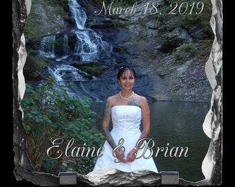 Wedding Gift Custom Photo Stone, Personalized Photo Slate, Photographer Gift,