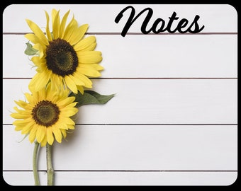 Custom Dry Erase Board One of a Kind Sunflower Board for Memos or Notes can be Personalized