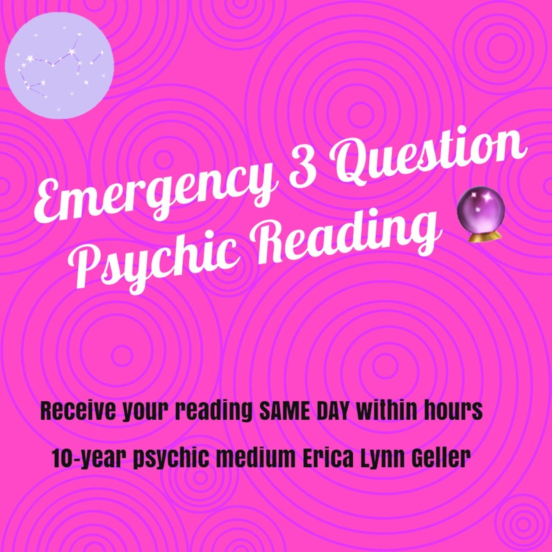 3-Question Psychic Reading via E-Mail by Gifted Psychic Medium image 0