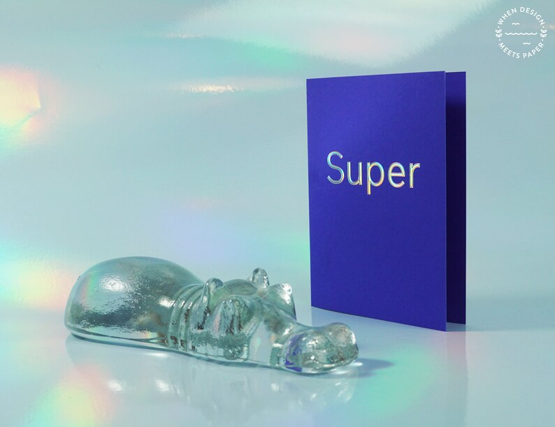 Super  holographic embossed postcard image 0
