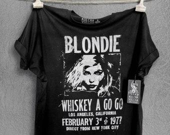 Authentic Blondie Parellel Lines Logo Women's crop top Debbie Harry tank T-shirt