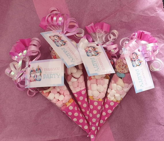 Ready Made Pre Filled Favours Sweet Cones Childrens Party Bags Jelly SWEETS