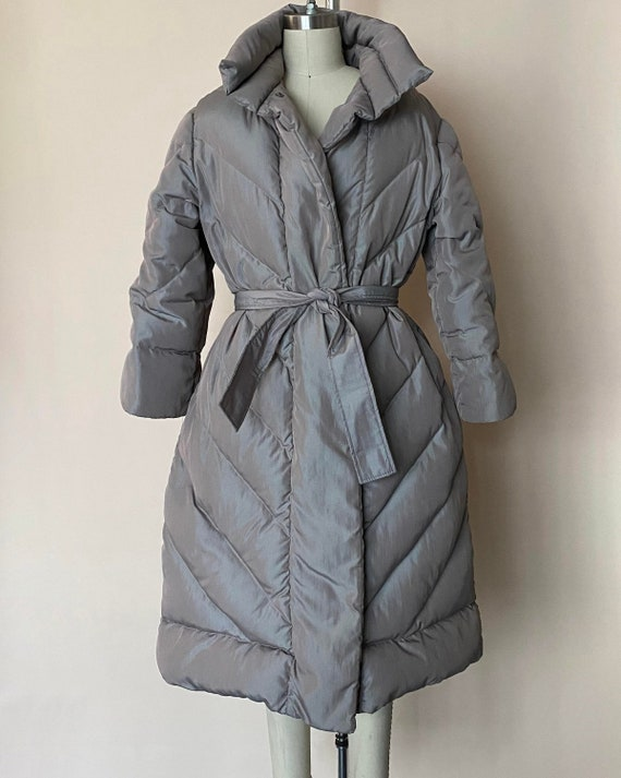 1980s VINTAGE BILL BLASS Full-Length Puffer Jacket