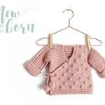 Size New Born- NEO Crochet Baby Kimono -  PDF Pattern- Instant Download