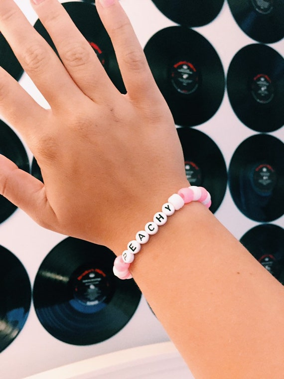 Peachy Pony Bead Letter Vsco Trendy Bracelet Etsy Basically a walking urban outfitters ad. peachy pony bead letter vsco trendy bracelet