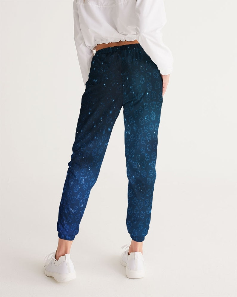 role playing gamer Women/'s Track Pants Blue galaxy dice of opportunity