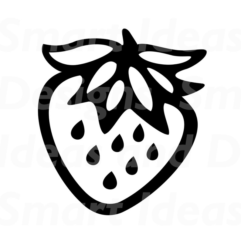 Strawberry Clipart Svg Files For Cricut Strawberry Template Etsy