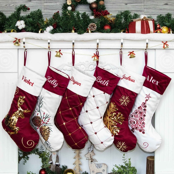 Custom monogrammed Christmas stocking
