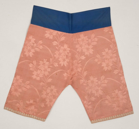 1930s Jacquard Woven Chinese Silk Pants