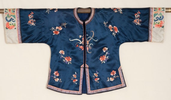 1930s Chinese Exquisitely Embroidered Silk Jacket