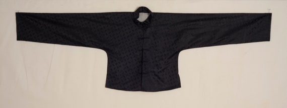 1920s-1930s Chinese Woven Black Silk Jacket