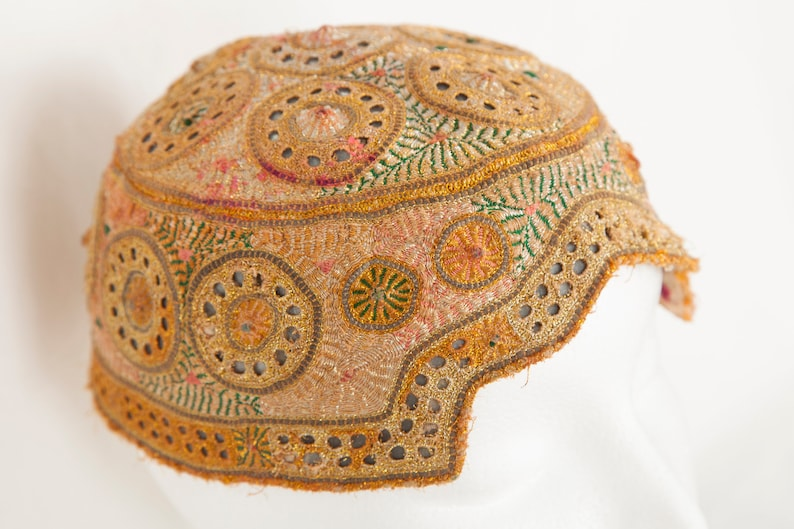 Vintage Dimensional Embroidered Bukharian Hat
